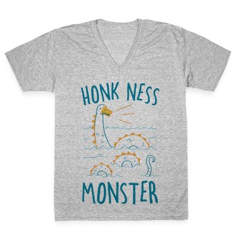 Honk Ness Monster V-Neck Tee Shirt