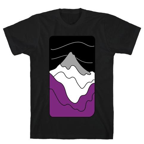 Groovy Pride Flag Landscapes: Ace Flag T-Shirt