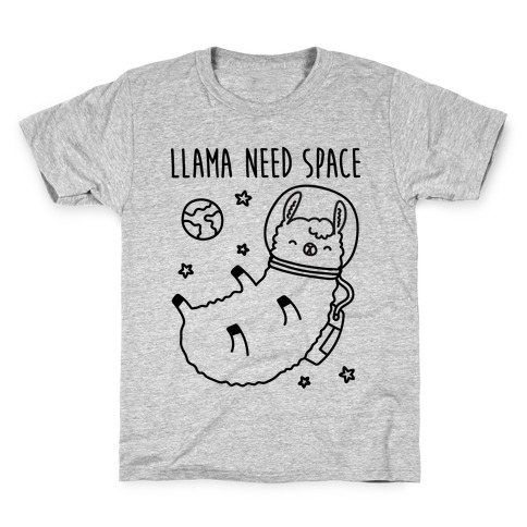 Llama Need Space Parody  Kids T-Shirt