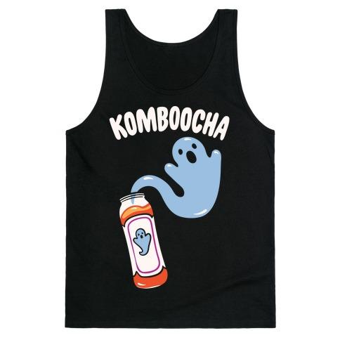 Komboocha Parody White Print Tank Top