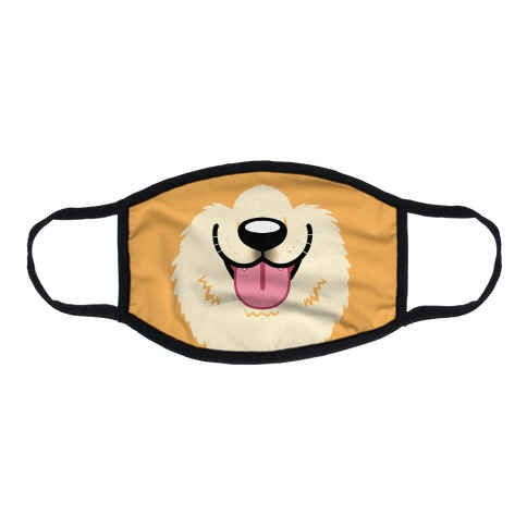 Corgi Mouth Flat Face Mask