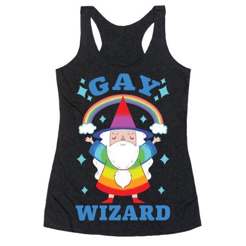 Gay Wizard Racerback Tank Top