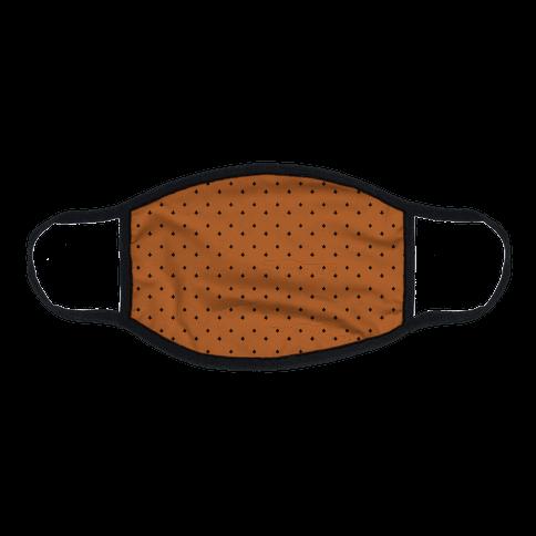 Dainty Stars Pattern Rust Orange Flat Face Mask