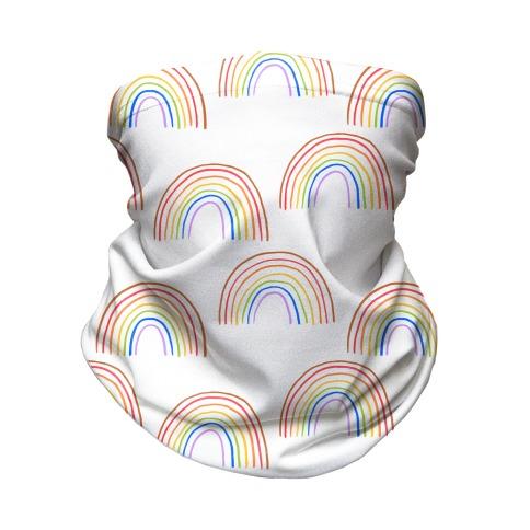 Hand Drawn Rainbow (White) Neck Gaiter