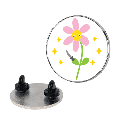 Soft But Strong Flower pin