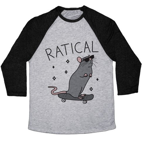 Ratical Rat Baseball Tee