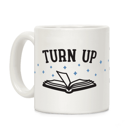 Turn Up Book Coffee Mug