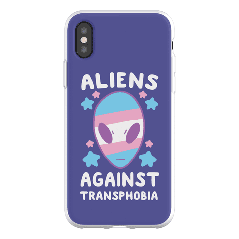 Aliens Against Transphobia Phone Flexi-Case
