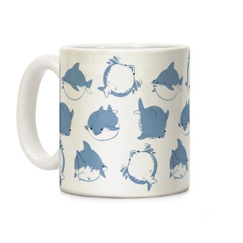 Fat Shark Pattern Coffee Mug