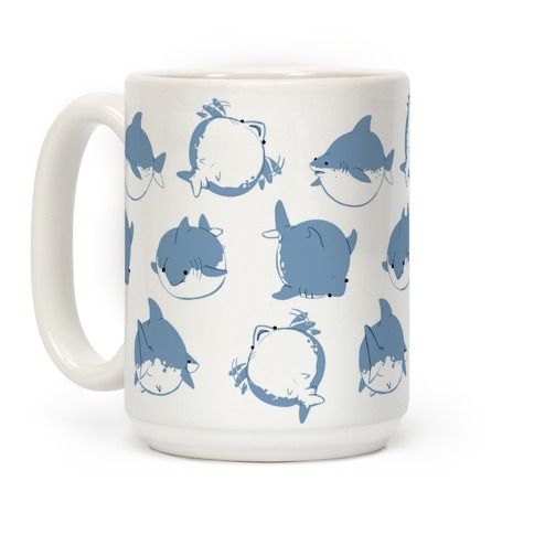 Fat Shark Pattern Coffee Mug