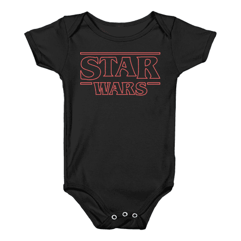 Star Wars Things Baby Onesy