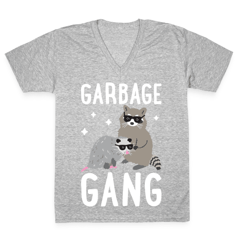 Garbage Gang V-Neck Tee Shirt