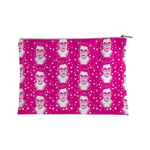Hot Pink Ruth Bader Ginsburg Accessory Bag