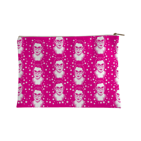 Hot Pink Ruth Bader Ginsburg Accessory Bag