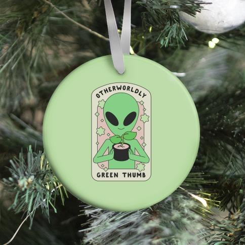 Otherworldly Green Thumb Ornament