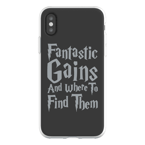 Fantastic Gains and Where To Find Them Parody Phone Flexi-Case