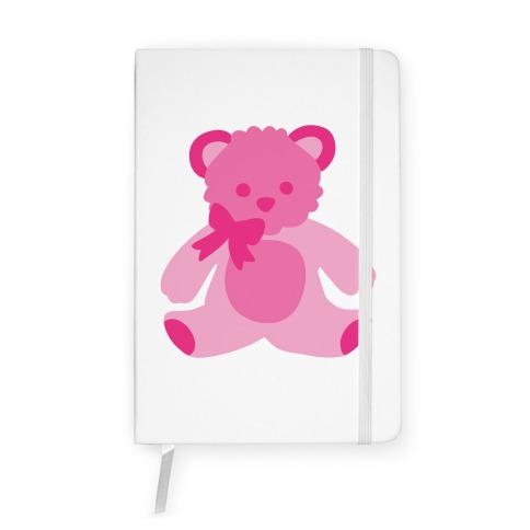 Pink Bear Plushie Notebook