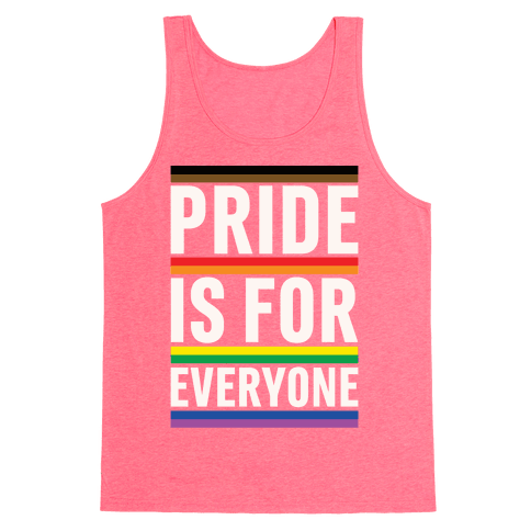 Pride Is For Everyone White Print Tank Top