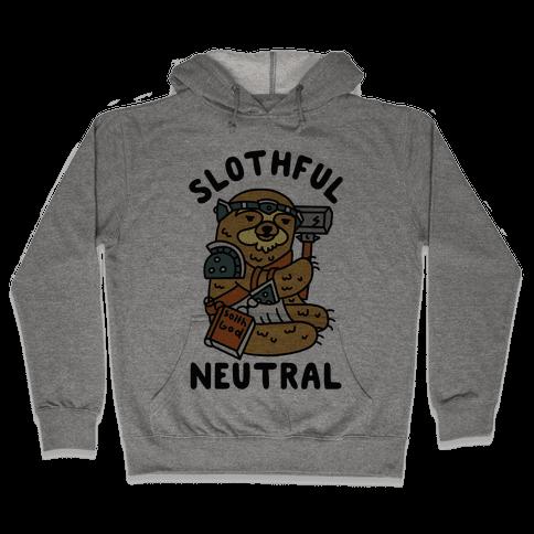Slothful Neutral Sloth Cleric Hooded Sweatshirt