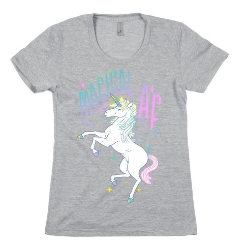 Magical AF Unicorn Womens T-Shirt