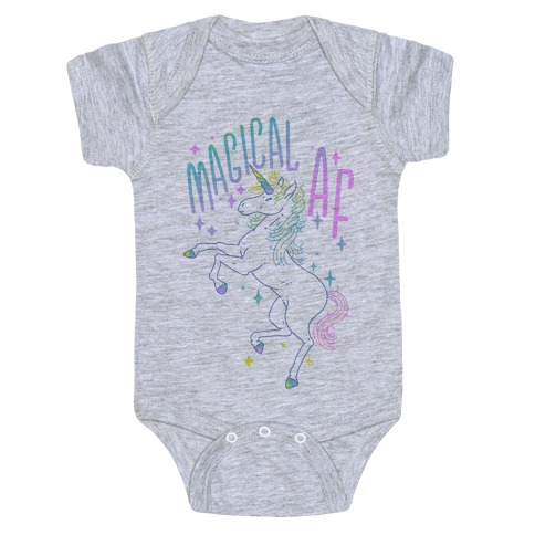 Magical AF Unicorn Baby Onesy