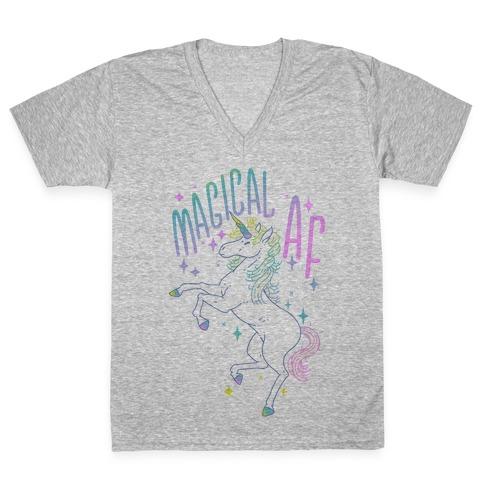 Magical AF Unicorn V-Neck Tee Shirt