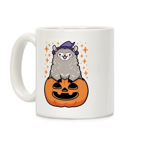 Cute Halloween Alpaca Coffee Mug
