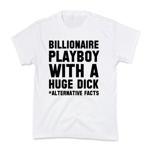 Billionaire Playboy (Alternative facts) Kids T-Shirt