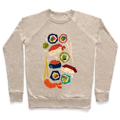 Mid-Century Modern Sushi Pattern Pullover