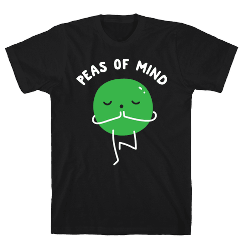 Peas Of Mind Mens T-Shirt