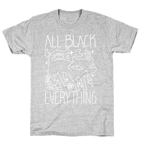 All Black Everything Cat T-Shirt