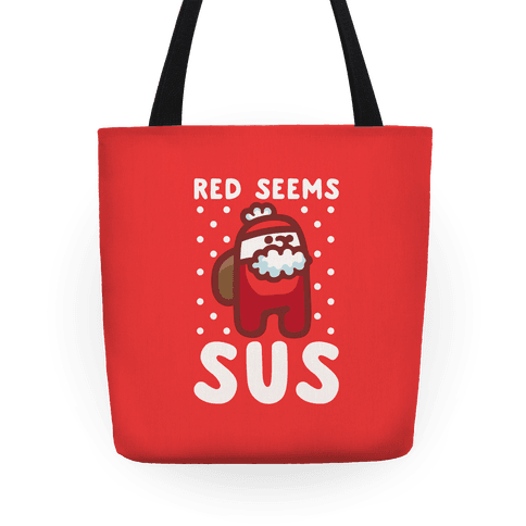 Red Seems Sus Santa Parody Tote