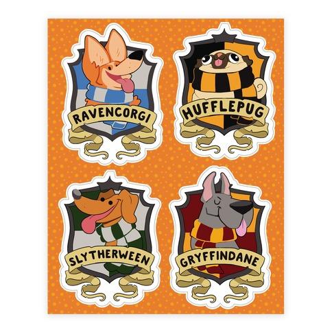 Hogwoofs Sticker/Decal Sheet
