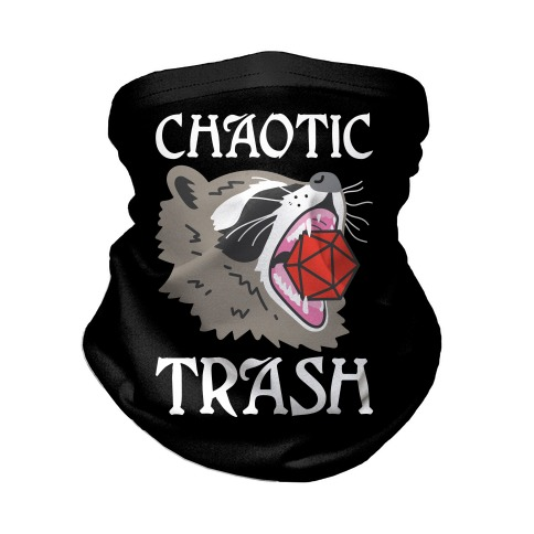 Chaotic Trash (Raccoon) Neck Gaiter