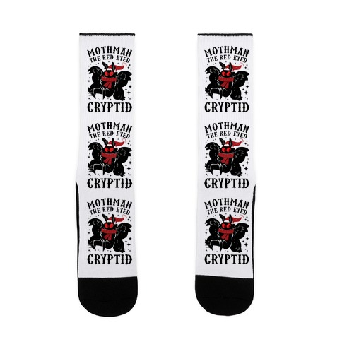 Mothman The Red Eyed Cryptid Sock