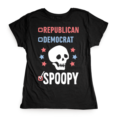 Republican Democrat SPOOPY (White) Womens T-Shirt