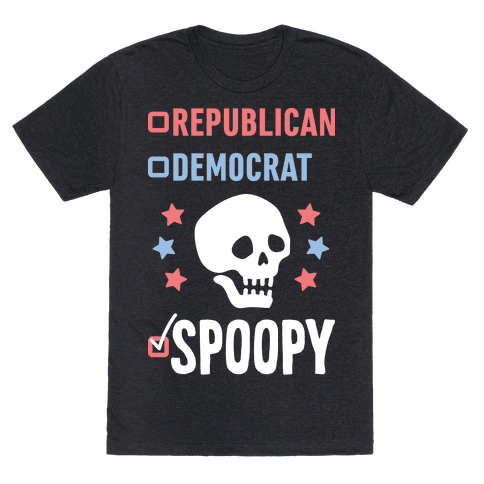 Republican Democrat SPOOPY (White)