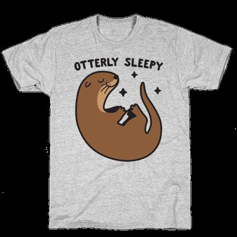 Otterly Sleepy Mens/Unisex T-Shirt