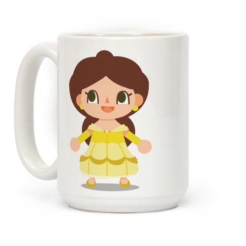 Princess Crossing Belle Parody Ball Gown Coffee Mug