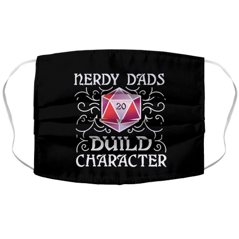 Nerdy Dads Build Character Accordion Face Mask