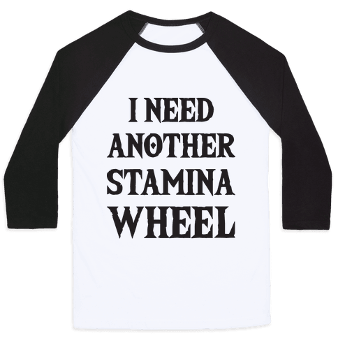 I Need Another Stamina Wheel Zelda Parody Baseball Tee