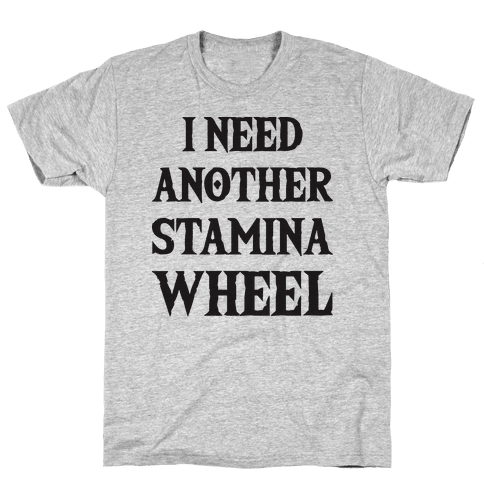 I Need Another Stamina Wheel Zelda Parody Mens T-Shirt