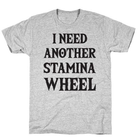 I Need Another Stamina Wheel Zelda Parody Mens T-Shirt