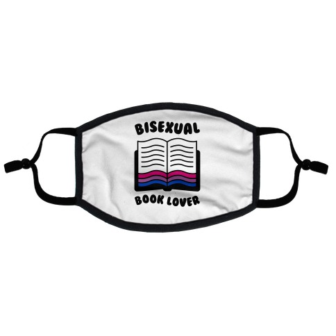 Bisexual Book Lover Flat Face Mask