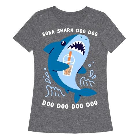 Boba Shark Womens T-Shirt