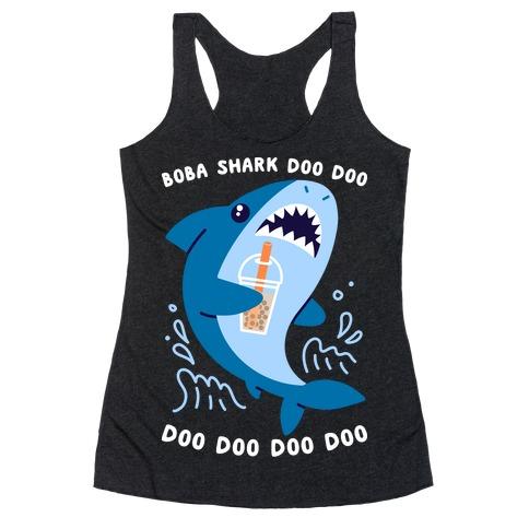 Boba Shark Racerback Tank Top