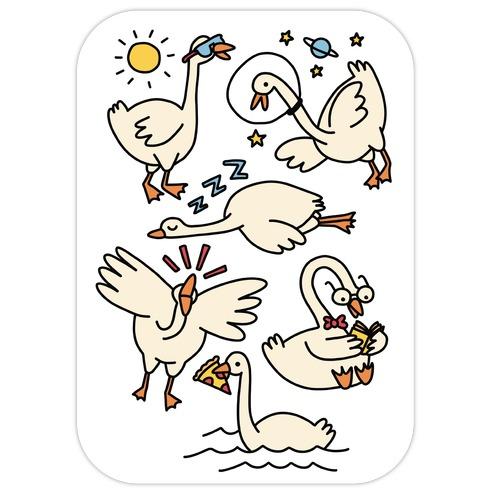 Silly Goose Studies Die Cut Sticker