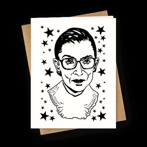 Ruth Bader Ginsburg Greeting Card