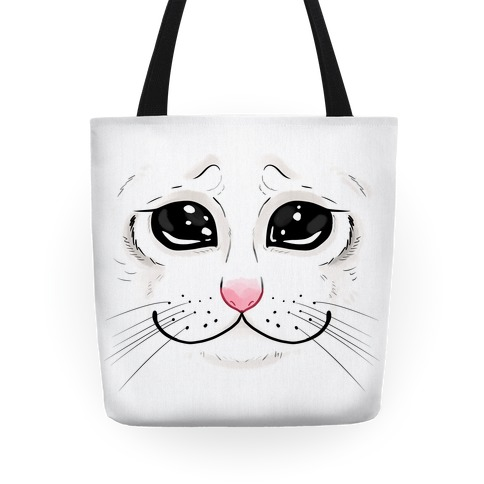 Crying Cat Face Tote