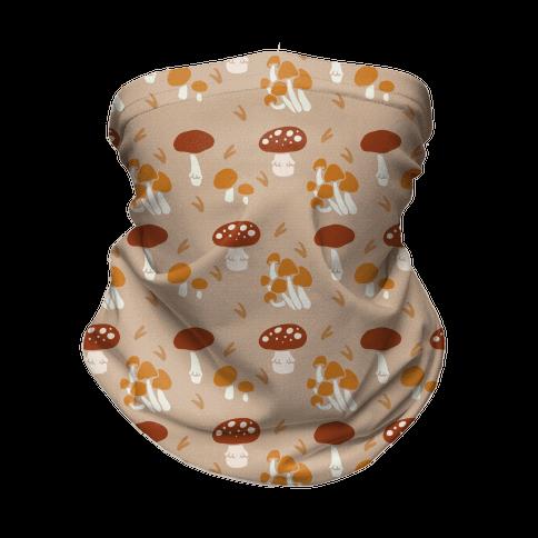 Forest Mushroom Boho Pattern Neck Gaiter
